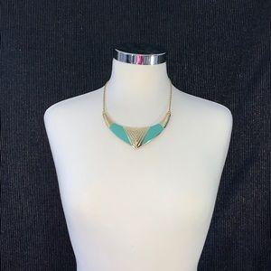 Gold & Aqua Fashion Necklace-NWT! Bundle and Save